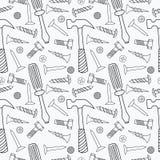 Hulpmiddelen naadloos patroon Royalty-vrije Stock Afbeeldingen