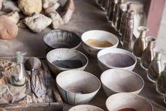 Hulpmiddelen om sandpainting Royalty-vrije Stock Foto's