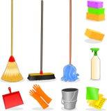 Hulpmiddelen om schoon te maken Stock Foto
