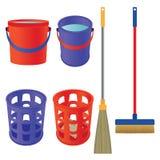 Hulpmiddelen om schoon te maken royalty-vrije illustratie