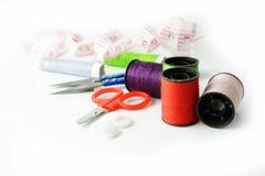 Hulpmiddelen om te naaien en met de hand gemaakt Royalty-vrije Stock Foto