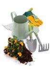 Hulpmiddelen om te tuinieren royalty-vrije stock foto's