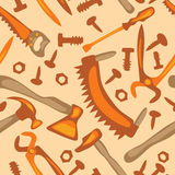 Hulpmiddelen op een wit naadloos patroon als achtergrond Royalty-vrije Stock Afbeelding