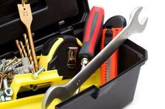 Hulpmiddelen in toolbox Royalty-vrije Stock Afbeelding