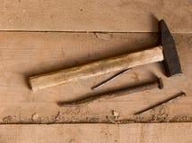Hulpmiddelen van de timmerman Stock Afbeelding