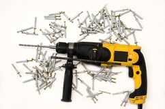 Hulpmiddelen voor bouw stock foto