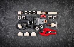 Hulpmiddelen voor de loodgieterswerkwerken Stock Afbeelding