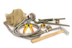 Hulpmiddelen voor de reparatie van watervoorziening royalty-vrije stock afbeelding