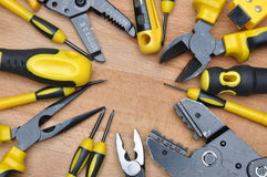 Hulpmiddelen voor elektrische installatie royalty-vrije stock fotografie