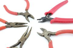 Hulpmiddelen voor elektroinstalation Stock Fotografie