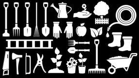 Hulpmiddelen voor het tuinieren het werk Stock Afbeelding