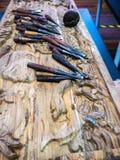Hulpmiddelen voor houten ambacht stock fotografie