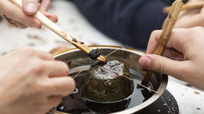 Hulpmiddelen voor paasei het in de was zetten Stock Foto