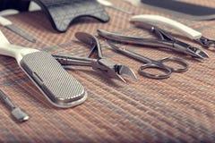 Hulpmiddelen voor pedicure Stock Afbeeldingen