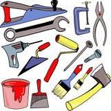 Hulpmiddelen voor reparatie Royalty-vrije Stock Afbeeldingen