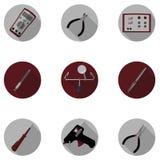 Hulpmiddelen voor reparatie van elektronika Stock Foto