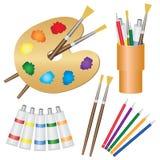 Hulpmiddelen voor schilderijen. Royalty-vrije Stock Afbeelding
