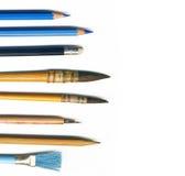 Hulpmiddelen voor tekening Stock Afbeelding