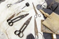 Hulpmiddelen voor wol Royalty-vrije Stock Fotografie