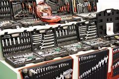 Hulpmiddeluitrustingen voor auto's in opslag stock afbeelding