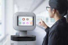 Hulprobot met software Stock Foto's