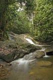 Hulu Yam Waterfall. Beautiful view of waterfall in the Malaysian jungle Royalty Free Stock Images