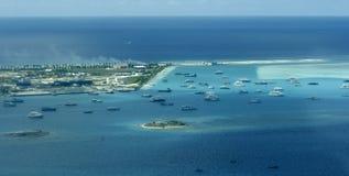 Hulule - atterrissage sur l'océan Images libres de droits