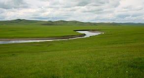 Hulun Buir美丽的大草原 库存照片