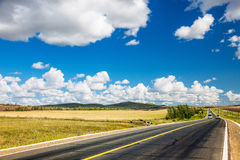 Hulun Buir grassland highway Royalty Free Stock Images