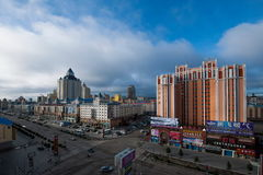 Hulunbeier Manchuria streetscape Royalty Free Stock Images