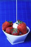 Hum....strawberry royalty free stock photography