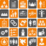 Huma Resources Managment icons. This is a collection of icons related with Huma Resources Managment Royalty Free Stock Photography