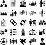 Huma Resources Managment icons Stock Images