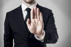 humah hand op wit wordt geïsoleerd dat Royalty-vrije Stock Afbeeldingen