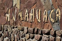 Humahuaca, located north of Tilcara and Purmamarca, in the colourful valley of Quebrada de Humahuaca in Jujuy Province, northern A Royalty Free Stock Photography