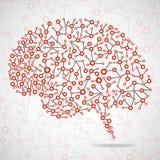 Humain abstrait de cerveau Photo libre de droits