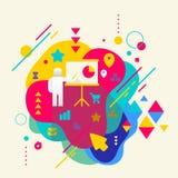 Humain avec un indicateur sur l'esprit repéré coloré abstrait de fond illustration de vecteur