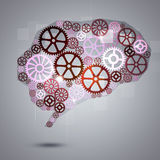 Humain Brain Shape Gears Business Background Images libres de droits