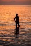 Humain de silhouette Photo stock