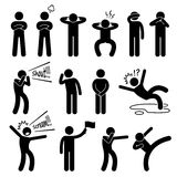 Human Action Poses Postures Icons Stock Images
