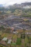 Human Activities at the Volcano basement. Stock Photos