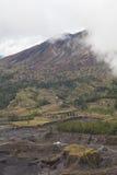 Human activities at Volcano Stock Photo