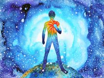 Free Human And Spirit Powerful Energy Connect To The Universe Power Stock Images - 113119354