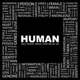 HUMAN. Royalty Free Stock Photo