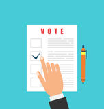 Human and Ballot Papers. Election and Voting Elements Royalty Free Stock Photography