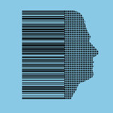 Human barcode profile Stock Photos