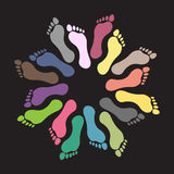 Human barefoots Royalty Free Stock Images