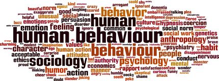 Human behaviour word cloud. Concept. Vector illustration stock illustration