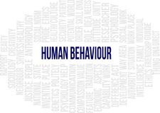 Human Behaviour - Word Cloud. A word cloud of Human behaviour related items royalty free illustration