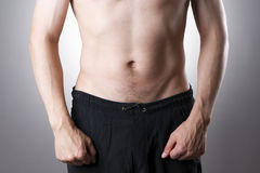 Human belly close-up Royalty Free Stock Photography